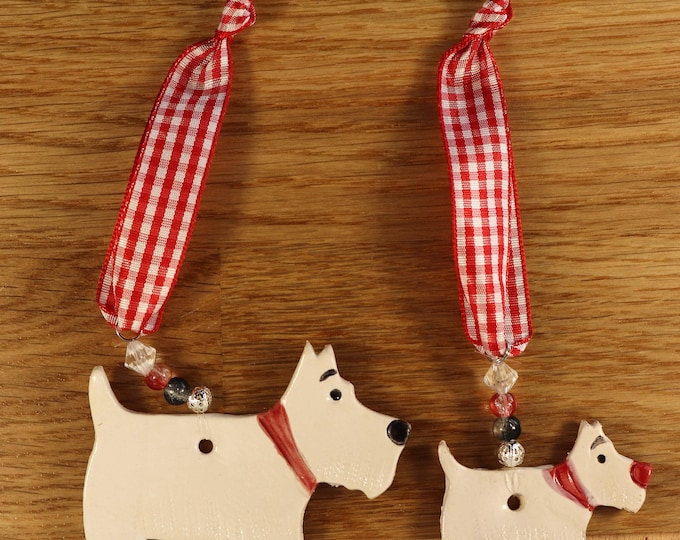 Featured listing image: Two lovely White Westie Terriers Dogs with red collars. Birthday, Anniversary, Love Dogs, West Highland Terriers, Woof, Fur Baby, Pooch, Pet