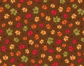Brown Maple Leaves yardage