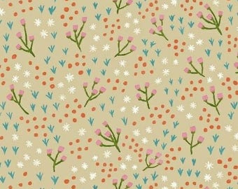 One Yard Cut - High Meadow in Oatmeal - Meriwether by Amy Gibson for Windham Fabrics -  Quilters Cotton