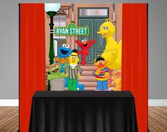 Sesame Street Themed 5x6 Table Banner Backdrop/ Step & Repeat, Design, Print and Ship!