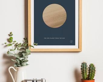 Venus, Planet, Space, minimalist  poster