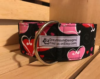 Hearts in Love Martingale Collar