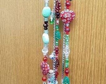 Christmas Baubles and Berries (B) Window Suncatcher - Wind chime - Feng Shui - Gift for her - Hanging crystal - Handmade Unique Seasonal