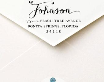 Calligraphy Return Address Label, Custom Printable & DIY Envelope Mailing Labels Last Name
