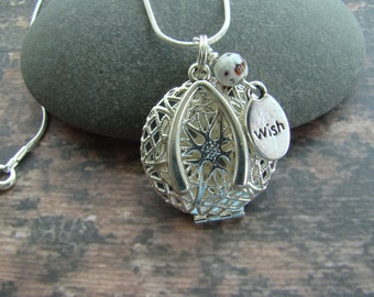 Wish Essential Oil Diffuser Necklace, Aromatherapy Necklace