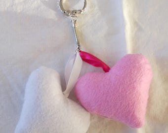 Key duo pink and white hearts