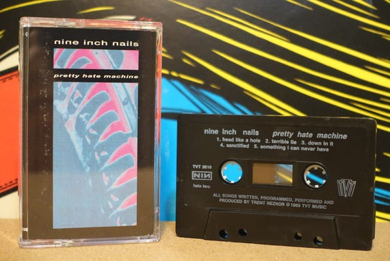 Pretty Hate Machine by Nine Inch Nails NIN Vintage Cassette Tape