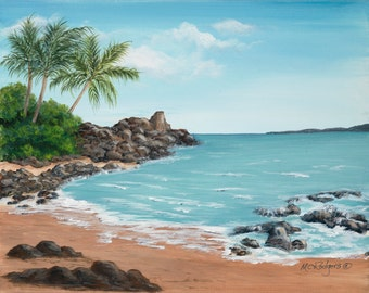 Hawaii 101 giclee canvas print from an original acrylic painting