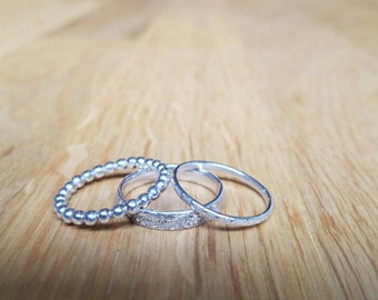 Made to Order-3 Stackable Ring Set