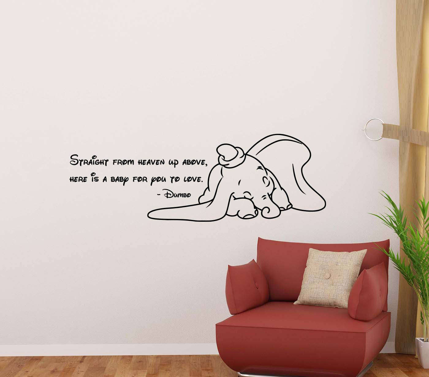 Dumbo Zitat Wandtattoo direkt vom Himmel Walt Disney