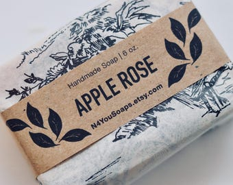 Crisp Apple Rose Double Butter Handmade Bar Soap