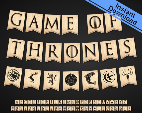 Game Of Thrones Banner Download And You Print 9 Houses