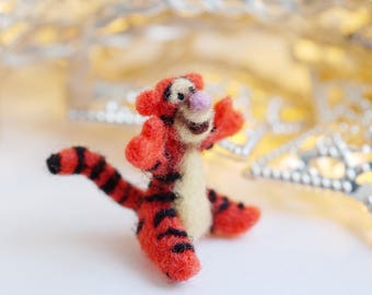 Tigger needle felted miniature