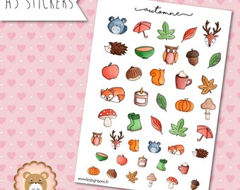 """Planners Stickers """"Automne"""""""