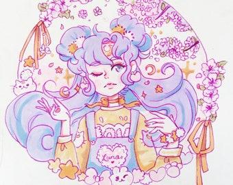 Lady Luna Traditional Print