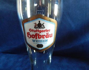 Vintage Gtuttgarter Hofbau Pilsner Beer Glasses ''Weizen''