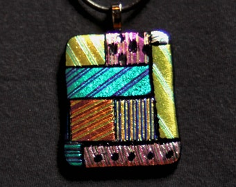 Bits and Pieces Dichroic Glass Pendant