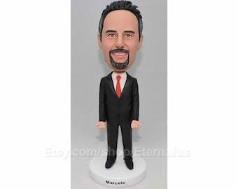 Custom Bobblehead Hold Bunisses Card , Hold IPHONE , Husband gift, gift to husband, gifts to husband, Personalized Husband gift,