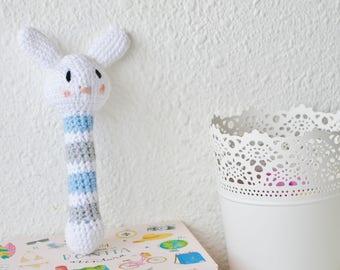 Crochet Baby Rattle | Bunny Rattle Crochet | Rattle Toy | Baby Gift | Babyshower Gift | Nursery Toy | Newborn Gift |  Crochet Amigurumi