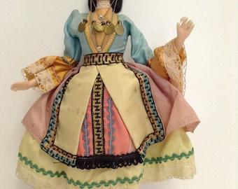Vintage Greek souvenir female doll