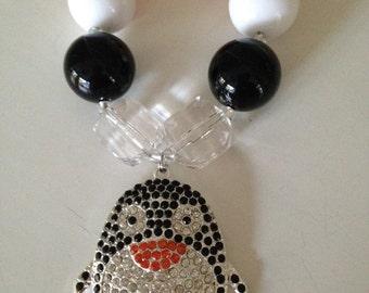 Penquin chunky bubble gum necklace
