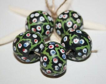 Antique trade beads, original West Africa, Nigeria beads, African handmade, handmade beads,