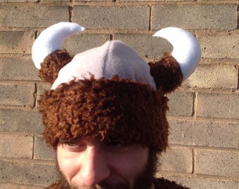 Viking beanie/ Viking helmet/ Viking hat/ Viking Cosplay/ Viking party