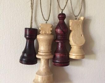 Repurposed Chess Piece Pendants