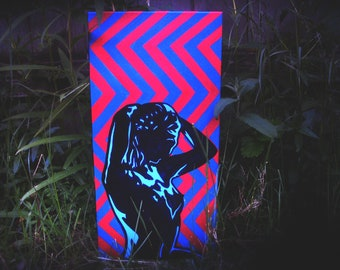 "Molly II [acrylic on canvas, 10x20""] *Stereoscopic*"