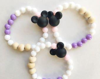 Mickey Mouse Bracelet, Disney Jewelry, Disney Bracelet, Party Favor, Fish Extender Gift