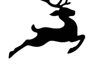 Pack of 3 Flying Reindeer Stencils, 16x20, 11x14 and 8x10 Made From 4 Ply Matboard