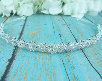 Rhinestone Crystal bridal headband headpiece, wedding headband, wedding headpiece, rhinestone tiara, rhinestone, Sabrina Crystal Headband