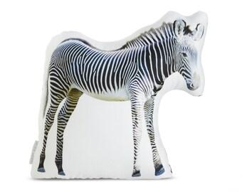 Zebra Printed Pillow