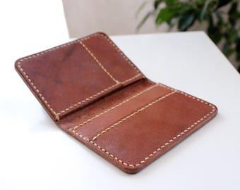 Genuine Leather card holder Credit card wallet Card case Leather Wallet minimalist wallet Handcrafted leather card case redit card organizer