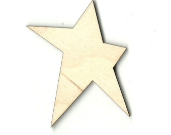 Folk Art Star - Laser Cut Out Unfinished Wood Shape Craft  Supply BSC1
