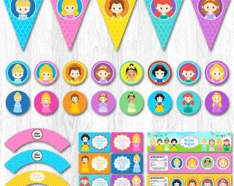 Princess Party, Disney Princess Party, Disney Princess Birthday Decorations, Princess Party Decoration, Disney Princess Party Package