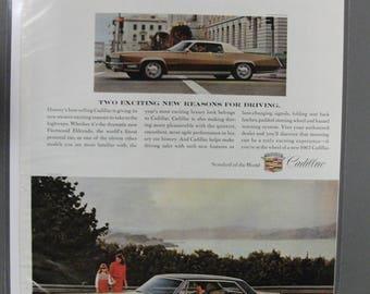 Cadi #148  Cadillac    Magazine Ad - May  1967