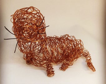 Wire Otter Sculpture