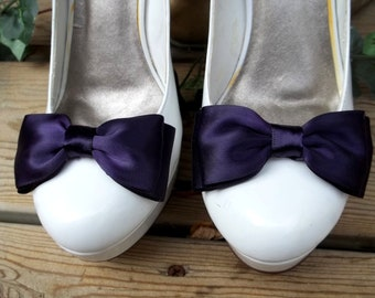 Bridal Shoe Clips, Wedding Shoe Clips, Satin Shoe Clips, Bridal Shoes Clips, Wedding Shoes Clips, Shoe Clips Only MANY COLORS, Gifts for Her