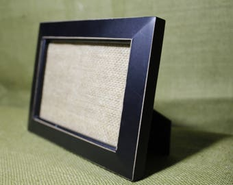 Black 4x6 Picture frame with light sanded edges