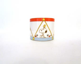 Vintage Snoopy and Woodstock Drum Planter Another Determined Production Peanuts Ceramic Japan Shultz