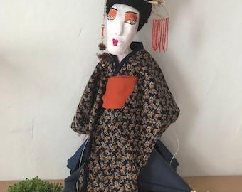 Personalized thread puppet, puppet, Puppet, Puppet, Geisha, handmade dolls, Miss Pottery, gift,