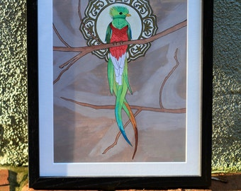 The Majestic Quetzal — Original Art Painting Print —  Fine Art Print