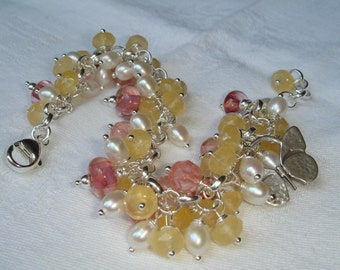 Sale Pale Yellow Calcite Pearls BOTANICAL GARDENS - OOAK