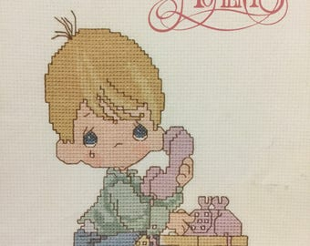 Vintage Precious Moments counted cross stitch book