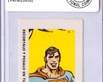 1964 Superman A-7 DC Comic ERROR Sticker 18010770