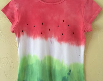 Tie-dye watermelon shirt