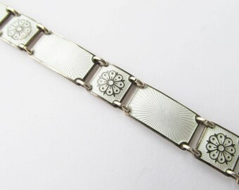 David Andersen Sterling Vermeil Guilloche Enamel Bracelet Vintage