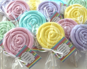 10 Lollipop Soap Party Favors:  Birthday favors, Bridal Favors, wedding favors, lollipop favors, candy favors, baby sprinkle favors