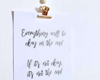 Everything will be ok print